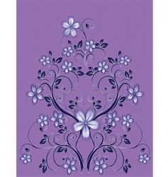 floral decor vector image
