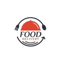 Food delivery delivery label for online shopping vector