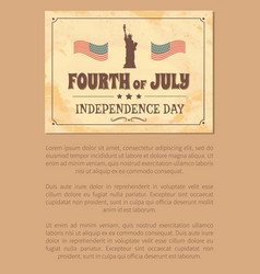 fourth of july independence day poster usa flags vector image