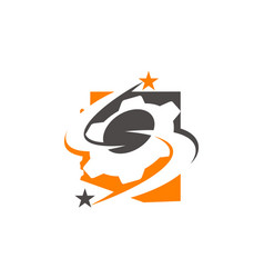 gear solution logo vector image