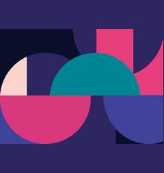 Geometric minimalistic artwork poster vector