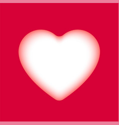 hand-drawn paper cut red heart element vector image