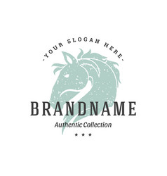 Horse hand drawn logo isolated on white background vector