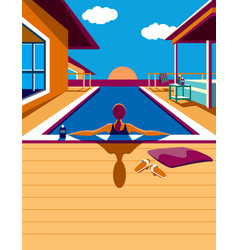 In the pool vector