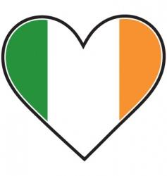 Irish heart flag vector image vector image