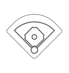 isolated object baseball and stadium logo set vector image