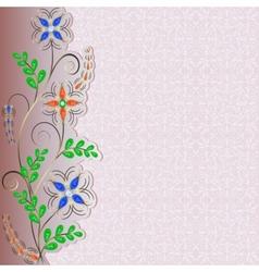 Jewelry pattern border vector
