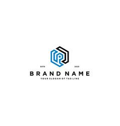 Letter p logo design t vector