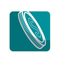 Logotype coin money save vector