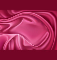 Luxury realistic pink silk satin textile vector