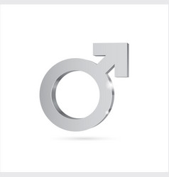 Male gender symbol mars silver3d symbol vector