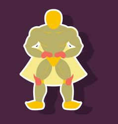 Man superhero superhero standing icon in vector