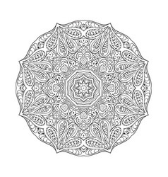 Mandala doodle drawing round ornament coloring vector