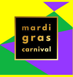 Mardi gras carnival geometric background vector