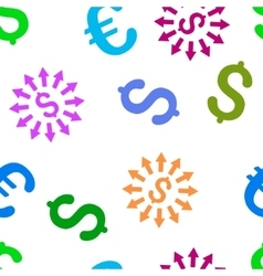 Money Distribution Flat Seamless Pattern vector
