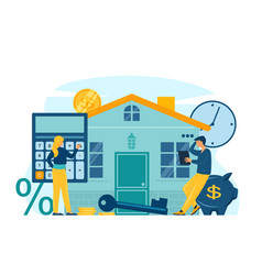Mortgage and house loan concept vector