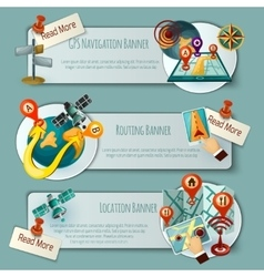 Navigation And Routing Banner Set vector