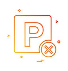 no parking icon design vector image