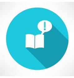 Notice in book vector