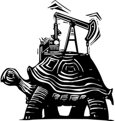 Oil Well Turtle vector image