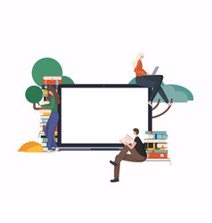 online education at home concept e-learning vector image