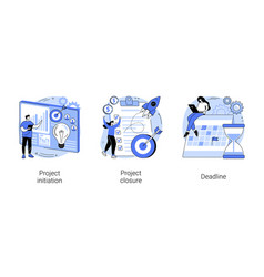 Project lifecycle abstract concept vector