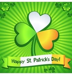 Saint Patricks Day clover greeting card vector