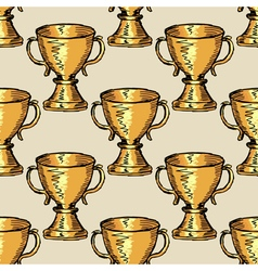 seamless background with trophy vector image