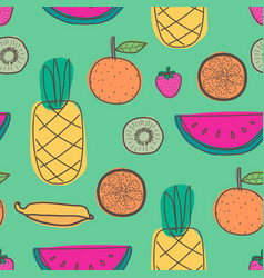 Seamless pattern with fruit background vector
