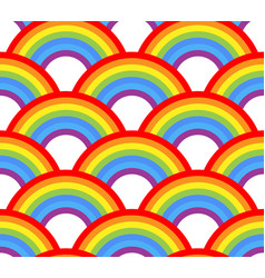 seamless rainbow pattern on white background vector image