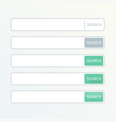 search bar set vector image