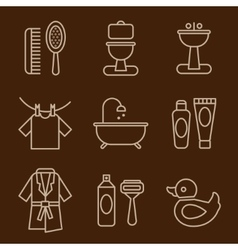 Set of Icons Bathroom vector image