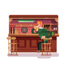 shop pub beer vector image