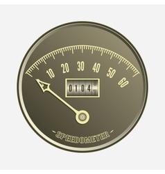 Speedometer in retro style - vector image