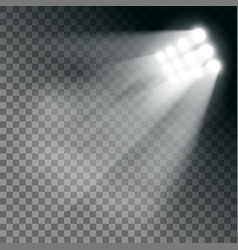Stadium lights effect on a transparent background vector