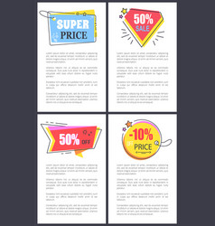 super price 50 sale off on vector image