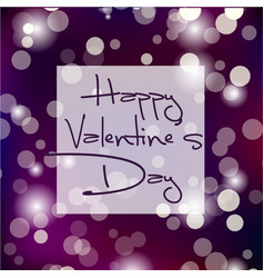 valentines day light card background vector image