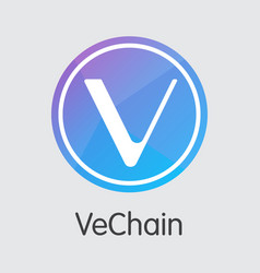 vechain cryptocurrency - colored logo vector image