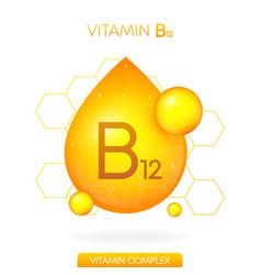 Vitamin b12 realistic icon pill capsule vector