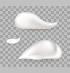 Whipped cream drops big and small size set vector