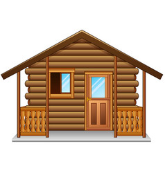 Wooden house isolated a white background vector