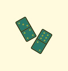 Domino pieces vector
