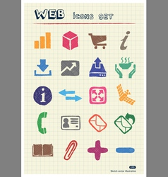 Finance and Internet icons set vector image vector image