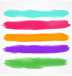 five brushes set of watercolor stain vector image