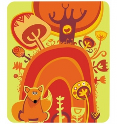 magical autumn forest vector image