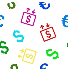 Money Elevator Flat Seamless Pattern vector image