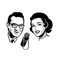 Retro talk show vector image