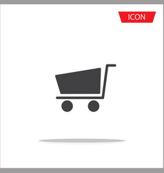 shopping cart icon flat design best icon vector image