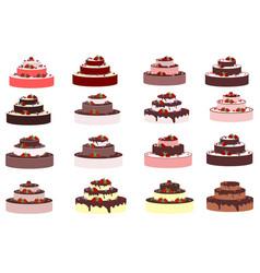 big wedding or a birthday cake vector image