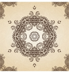 Filigree Henna Pattern vector image vector image